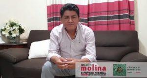 Convoca Irineo Molina a la unidad, en lugar del pánico por COVID-19