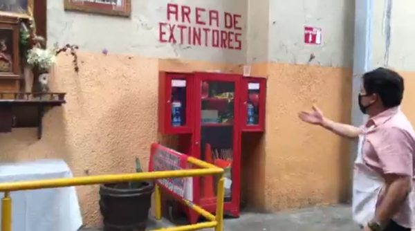 Refuerzan medidas de seguridad en mercado 20 de noviembre de Oaxaca para evitar incendios