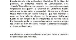 Empresario de Amilpas se deslinda de presunto narcomensaje