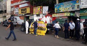Tras ser zona de riesgo de contagios, instalan filtros en Central de Abasto en Oaxaca