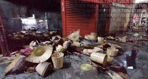 Incendio, cambia la vida comercial de la Central de Abastos en Oaxaca