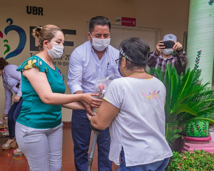 DIF Tuxtepec realiza entrega simbólica de primeros 335 apoyos alimentarios