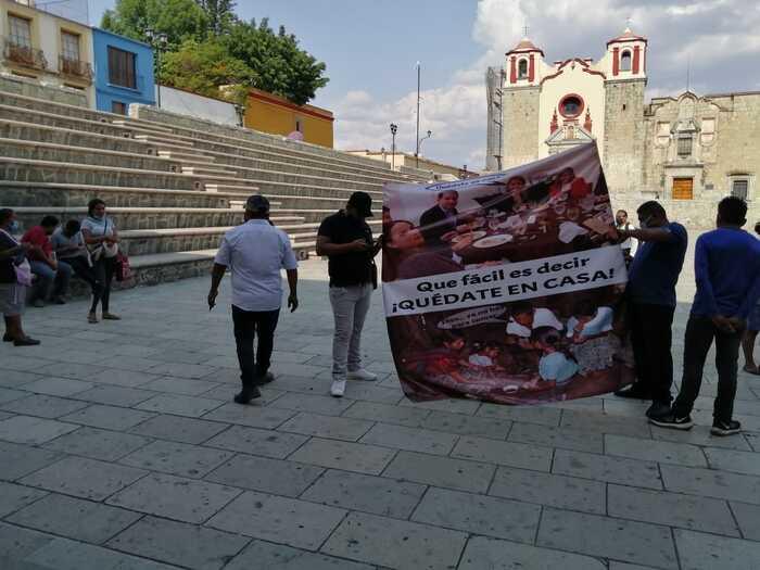 Ambulantes del frente 14 de junio, denuncian falta de apoyos