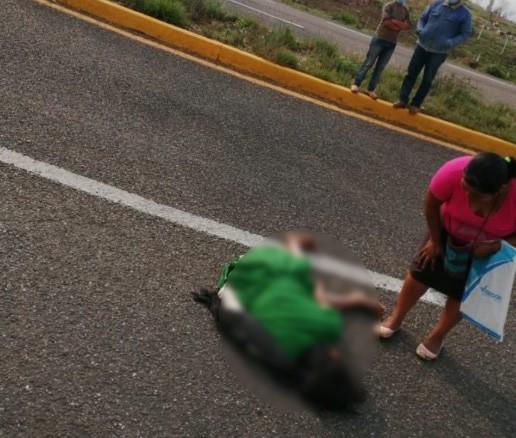 Mujer de la tercera edad muere atropellada en la carretera Oaxaca – Puerto Ángel