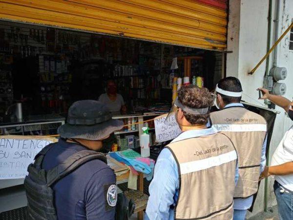 Van alrededor de 20 comercios de Tuxtepec supervisados, cumplen con todas las medidas