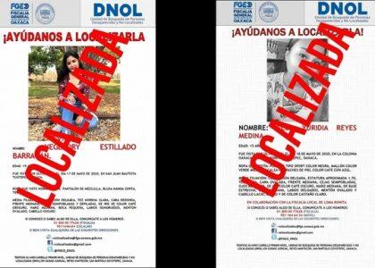 Aparecen 2 Tuxtepecanas, habían sido reportadas como desaparecidas