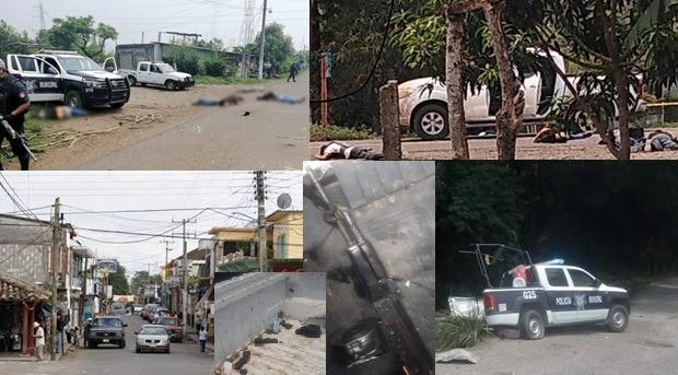 Enfrentamiento entre policías y delincuentes, deja 6 muertos en Acatlán