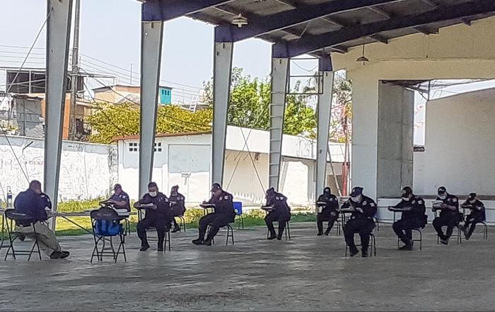 Evalúan a elementos de la Policía Preventiva Municipal de Tuxtepec