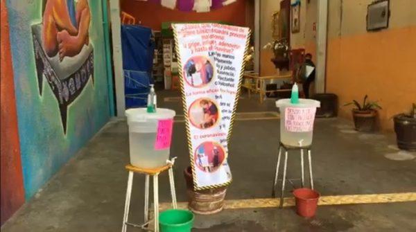 Locatarios del mercado 20 de noviembre de Oaxaca, niegan que haya casos de covid 19