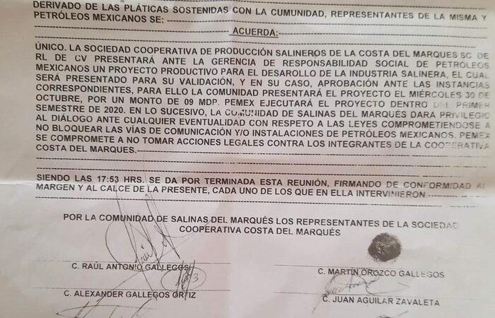 Afectados de Salinas del Marqués, piden a Pemex que cumpla con indemnización