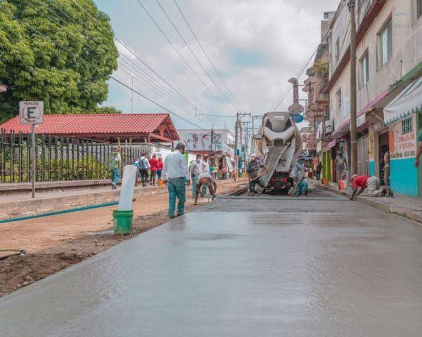 Gobierno de Tuxtepec impulsa reactivación económica con inversión en obra pública