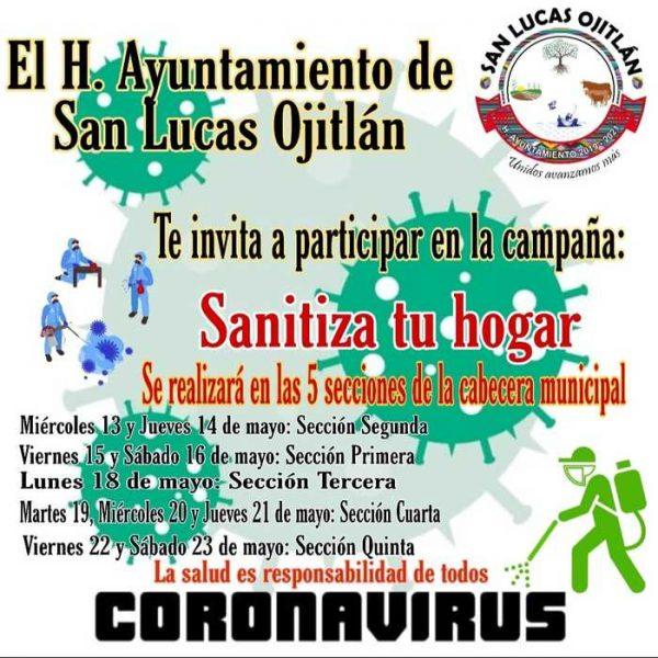 Continúan medidas de prevención en Ojitlán, sanitizarán viviendas