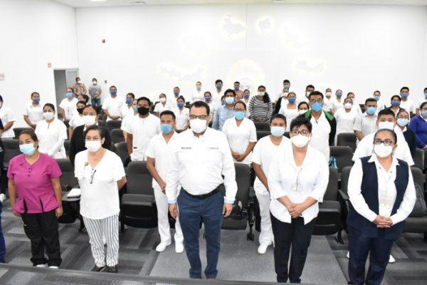 Personal médico y de enfermería se suman al combate contra el COVID en el Hospital de la Mujer y el Niño Oaxaqueño