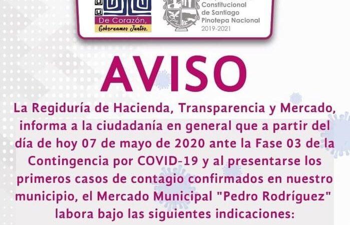 Implementan medidas de prevención en Pinotepa Nacional, tras confirmación de primer caso de Covid-19