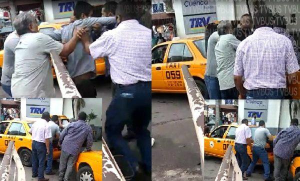 Taxista ebrio es sometido y encajuelado por sus compañeros en Tuxtepec