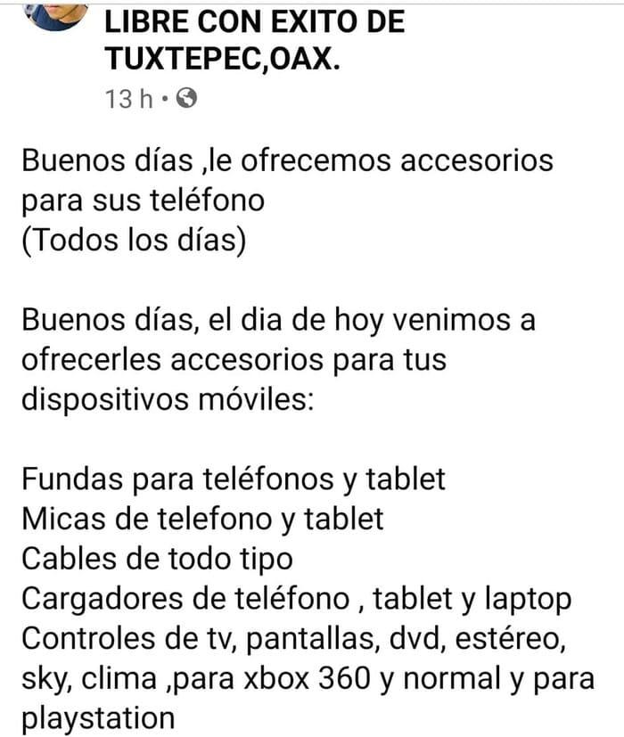 Comercios de Tuxtepec, optan por vender en redes sociales