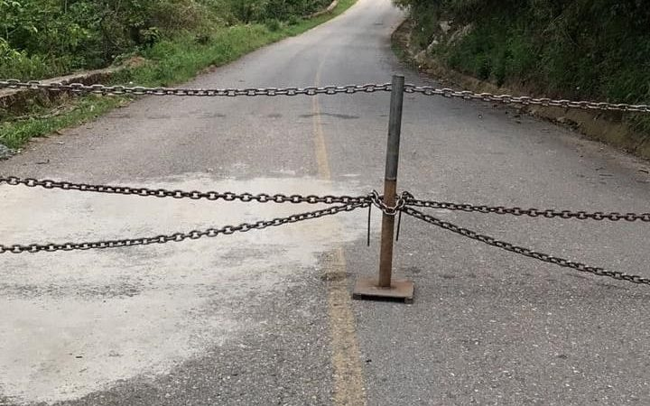 Cierran accesos en Santiago Zacatepec Mixe, por contagios de Covid en municipios vecinos