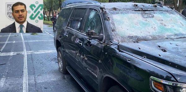 2 muertos tras atentado al Titular de la Secretaría de Seguridad Ciudadana de la CDMX