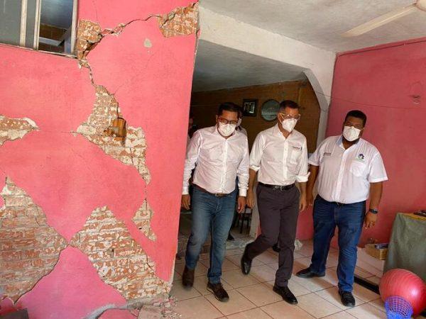 En Huatulco, AMH recorre zonas y colonias afectadas por sismo