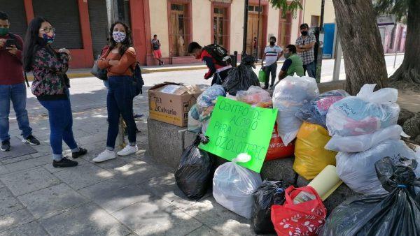 Instalan centro de acopio en la capital oaxaqueña en apoyo a Ozolotepec tras sismo