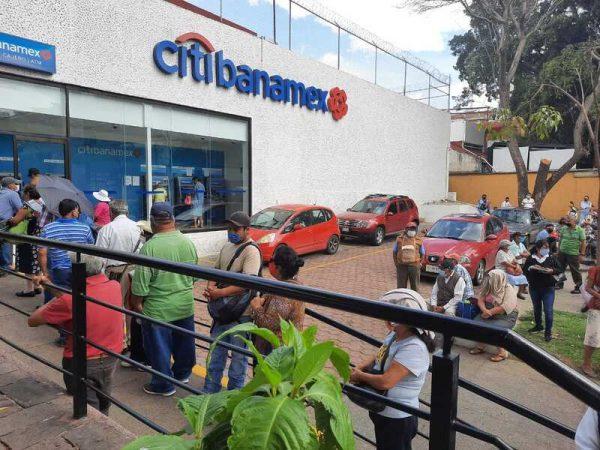 Por posible caso Covid, cierran temporalmente sucursal de citibanamex en Oaxaca