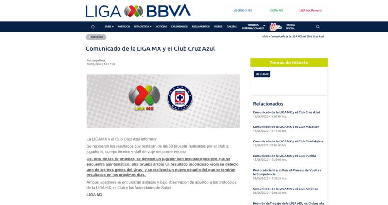 Reporta Cruz Azul un caso de covid