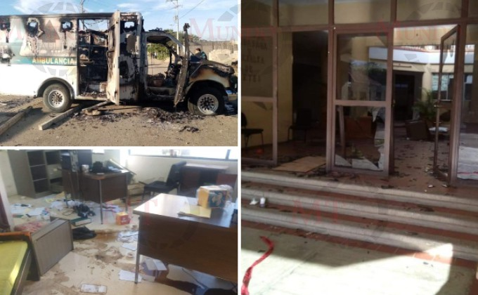 Por la muerte de un paciente de covid-19 hacen destrozos en Chiapas