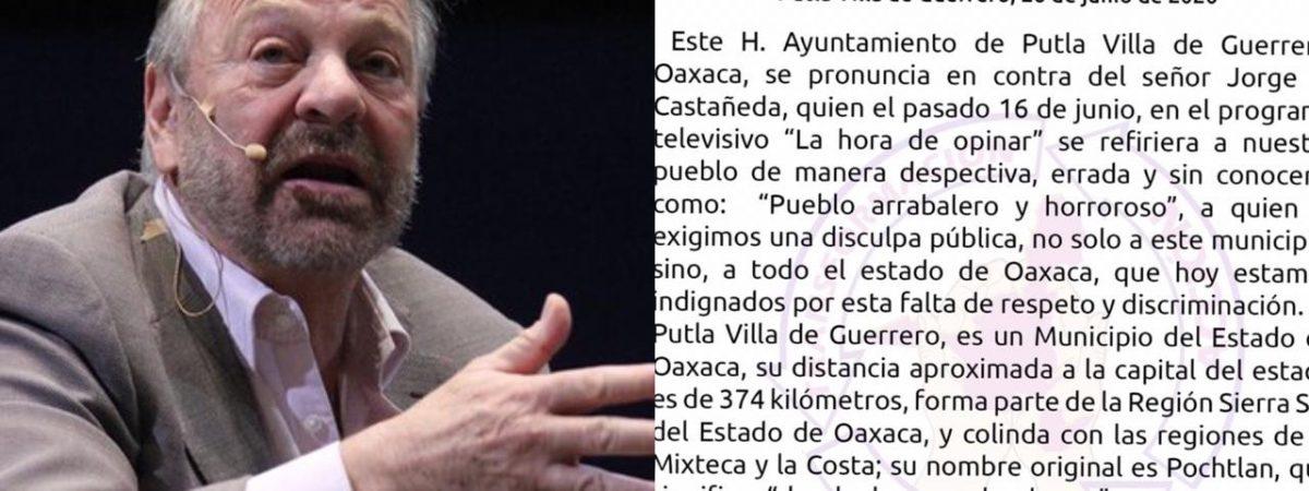 Exige ayuntamiento de Putla disculpa pública a ex canciller Jorge Castañeda