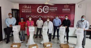 Recibe ISSSTE de Oaxaca ventiladores para atención de casos covid