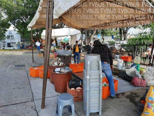 Vecinos se inconforman por instalación de tianguis en Oaxaca