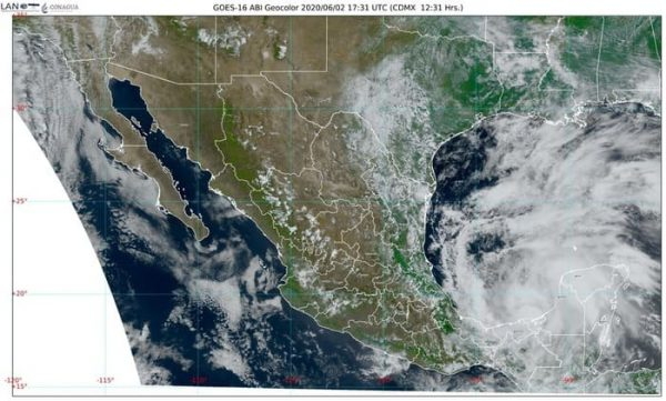 Se forma la tormenta tropical Cristobal, a partir de la Depresión Tropical Tres