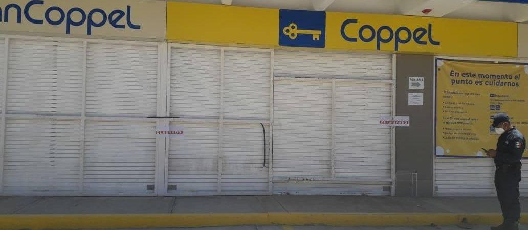 Clausuran tiendas Coppel y Elektra en Nochixtlán