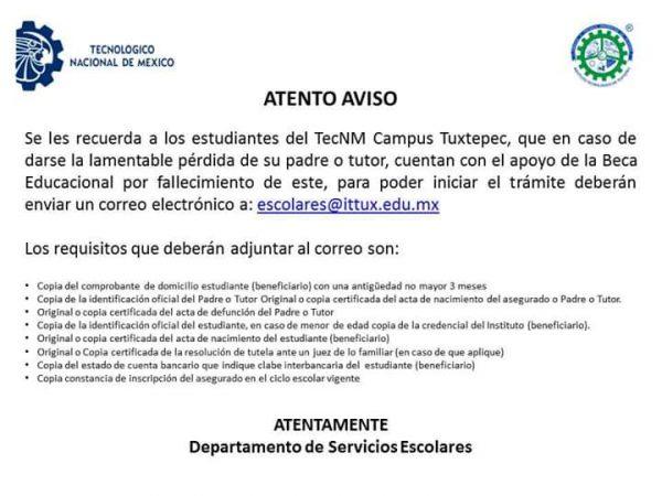 Tecnológico de Tuxtepec, ofrecerá becas a estudiantes que pierdan a padre o tutor por covid