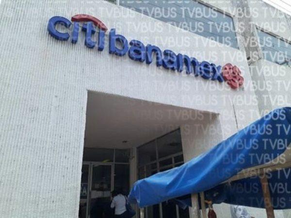 Cierran Banamex en Tuxtepec, para reducir contagios de Covid
