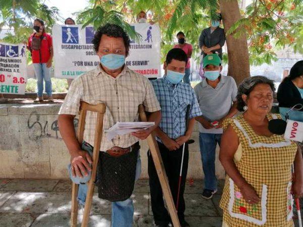 Personas con discapacidad en Oaxaca, denuncian nulo apoyo de las autoridades