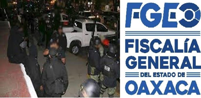 Continúa FGEO acciones contra células criminales en el estado;  ejecuta cateos en la Cuenca, Cañada y Mixteca