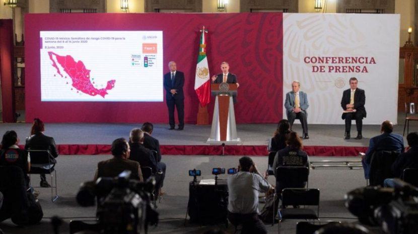México sigue en rojo; cines, bares, conciertos e iglesias aún no pueden volver: López-Gatell