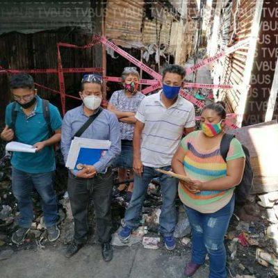 Locatarios de la central de abasto afectados por incendio, denuncian nula atención de las autoridades oaxaqueñas