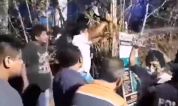 Habitantes de Mazunte quitan filtros pese a incremento de casos Covid