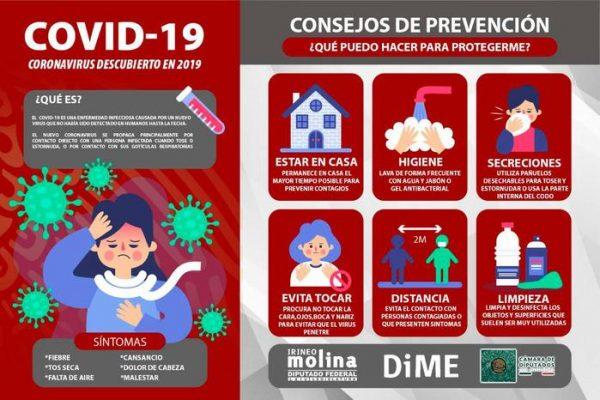 Exhorta Irineo Molina a reforzar medidas sanitarias por Covid-19