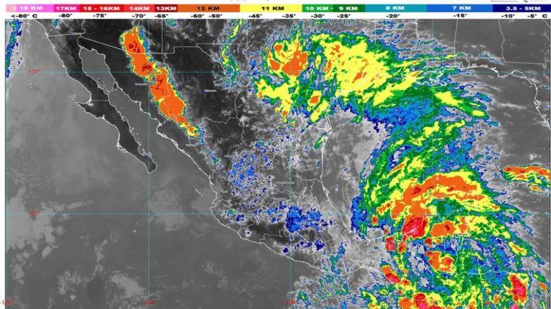 Se prevén lluvias puntuales torrenciales en Oaxaca, Tabasco y Veracruz