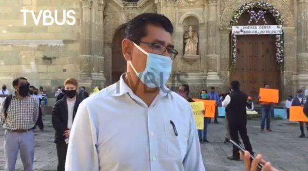 Prestadores de Servicios Turísticos se manifiestan en Oaxaca, exigen un plan de reactivación económica