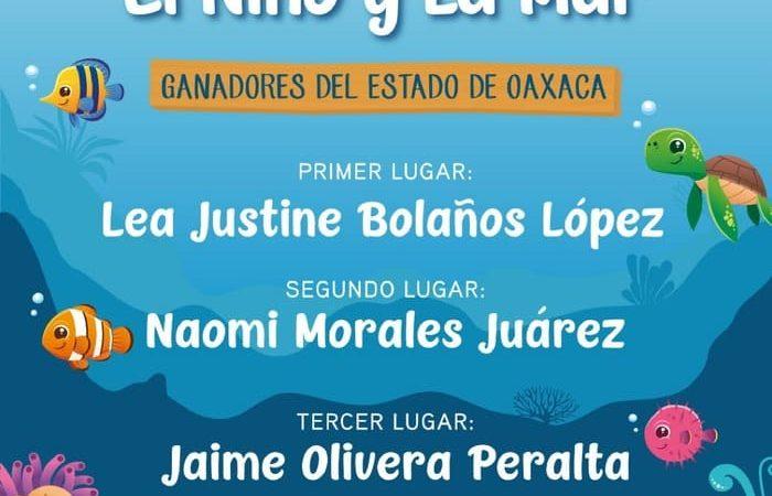 """Felicita Gobierno de Oaxaca, a través del IEEPO, a ganadores estatales del certamen """"El Niño y La Mar"""" 2020"""