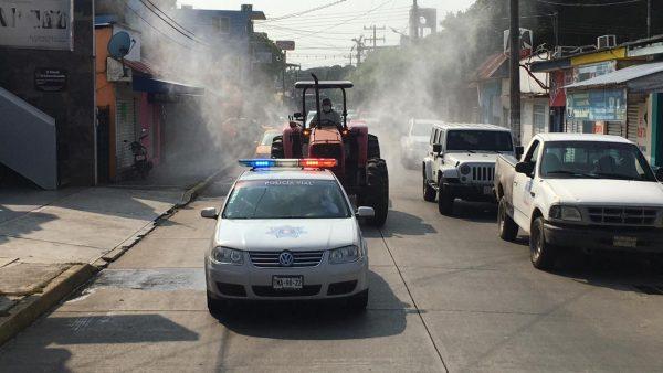 SEDAPA sanitiza calles del centro de Tuxtepec