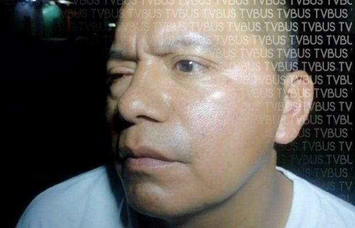 Delegado de tránsito ebrio, golpea a un elemento en Valle nacional