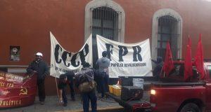 FPR se manifiesta en casa oficial en Oaxaca, exigen apoyos a sectores educativo, salud y obrero