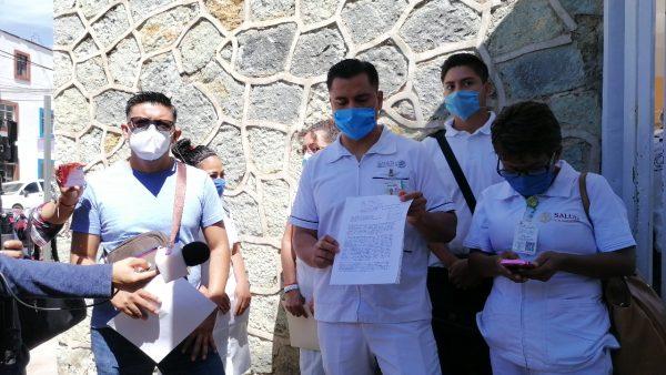 Trabajadores del hospital civil de Oaxaca, piden equipo para evitar contagios por covid-19