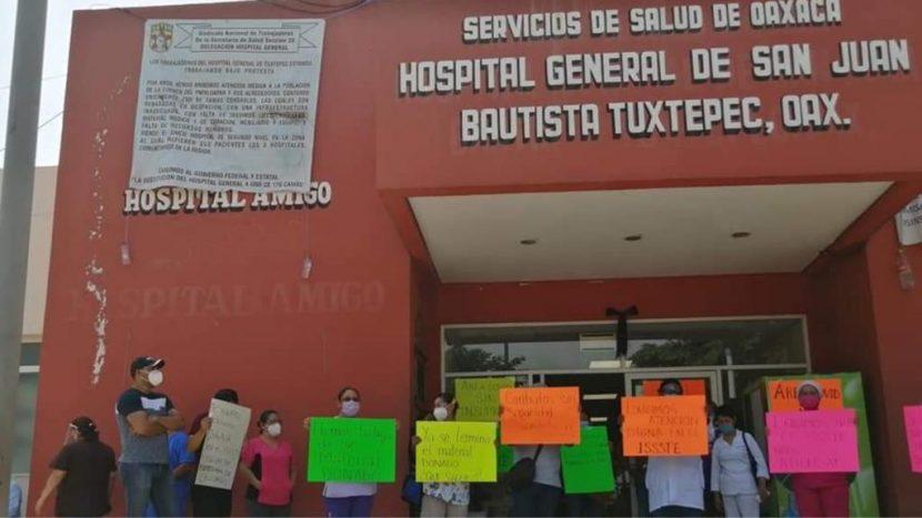 En paro Hospital de Tuxtepec, exigen material y personal