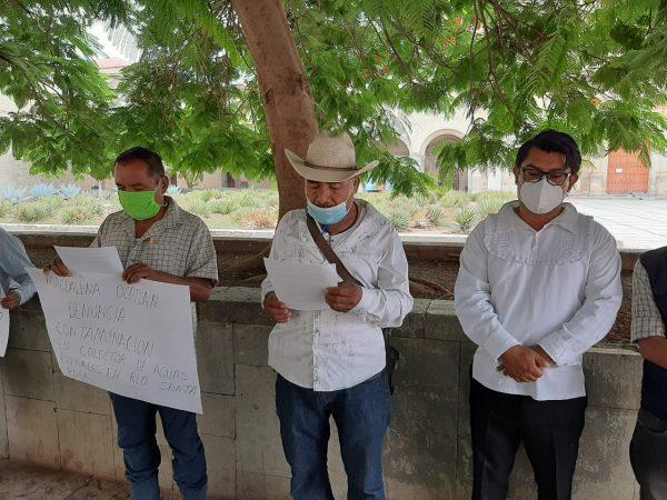 Autoridades de Magdalena Ocotlán, denuncian contaminación de empresa minera en Oaxaca