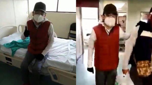 Por contingencia, Pedro Lezama egresa de hospital para continuar recuperación en casa